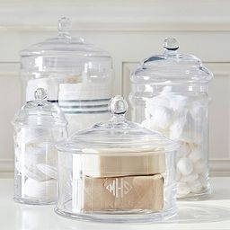 Classic Glass Bath Canisters   Pottery Barn (US)