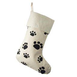 Animal Paw Print Cotton Christmas Stocking, Beige, 17-Inch   Walmart (US)