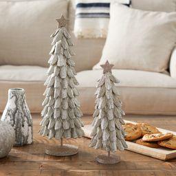 Belham Living Unlit Tabletop Gold Shingle Christmas Tree- Set of 2   Walmart (US)