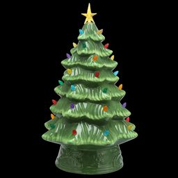 Mr. Christmas Prelit Ceramic Christmas Tree 16 in, Multiple Colors   Walmart (US)