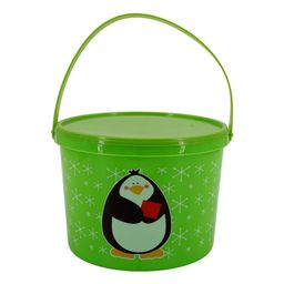 Christmas Mini Buckets With Handles And Lids (Set of 4, 6.5 x 4.8 in) Santa Penguin, Goodies, Hol...   Walmart (US)
