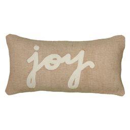 "Rizzy Home ""Joy"" Jute / Cotton Decorative Throw Pillow, 11"" x 21""   Walmart (US)"