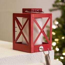 """Belham Living Lantern Metal Christmas Stocking Holder, Red, 6""""   Walmart (US)"""