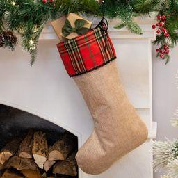 """Belham Living Rustic Plaid Christmas Stocking, 18.5""""   Walmart (US)"""