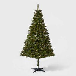 6ft Pre-lit Artificial Christmas Tree Alberta Spruce Clear Lights - Wondershop™   Target