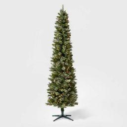 7.5ft Pre-lit  Artificial Christmas Tree Pencil Virginia Pine Clear Lights - Wondershop™   Target