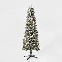 6ft Pre-lit Artificial Christmas Tree Flocked Alberta Spruce Clear Lights - Wondershop™   Target