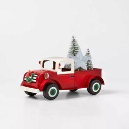 Large Metal Truck Decorative Figurine Red - Wondershop™   Target