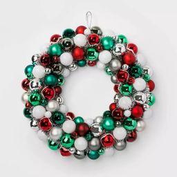 Shatterproof Christmas Wreath Red Green & White - Wondershop™ | Target