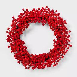 22in Unlit Red Berry Artificial Christmas Wreath - Wondershop™ | Target
