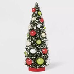 12in x 4.75in Bottle Brush Ornament Tree Retro Green/Red - Wondershop™ | Target
