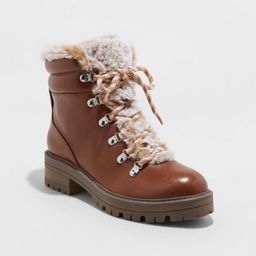 Women's Lindy Faux Fur Hiking Boots - A New Day™ | Target