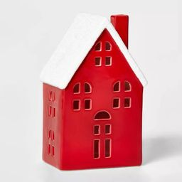 Ceramic Traditional House Decorative Figurine Red - Wondershop™ | Target