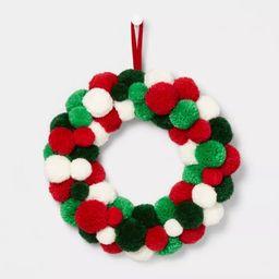 Pom Pom Wreath Red, Green & White - Wondershop™ | Target