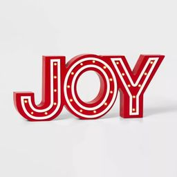 Lit Joy Marquee Decorative Sign Red/White - Wondershop™ | Target