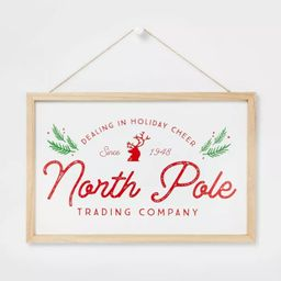 North Pole Trading Company Hanging Sign - Wondershop™ | Target