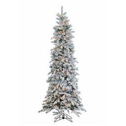 7.5 ft. Pre-Lit Flocked Pencil Pine Christmas Tree   Kirkland's Home