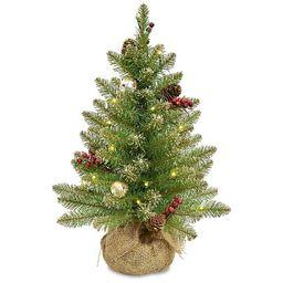 2 ft. Pre-Lit Burlap Base Glitter Christmas Tree   Kirkland's Home