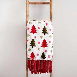 Red and Green Christmas Trees Throw   Kirkland's Home