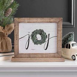 Joy Word Block with Wreath   Kirkland's Home