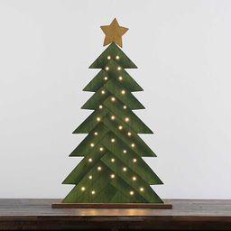 New!Green LED Wooden Christmas Tree   Kirkland's Home