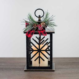 New!Black Snowflake LED Lantern   Kirkland's Home