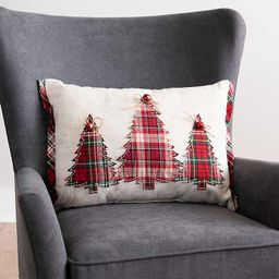 New!Plaid Trees with Bow Accent Pillow   Kirkland's Home
