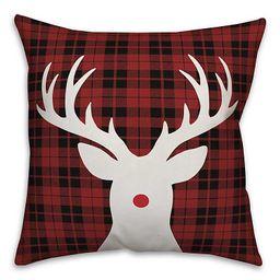 Red Nose Rudolph Plaid Christmas Pillow   Kirkland's Home