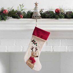 Rustic Reindeer Stocking   Kirkland's Home