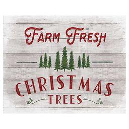 Fresh Christmas Trees Shiplap Canvas Art Print   Kirkland's Home