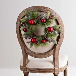 New!Red Ornaments and Pine Mini Wreath   Kirkland's Home