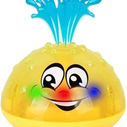 HLXY Bath Toy, Spray Water Squirt Toy LED Light Up Float Toys Bathtub Shower Pool Bathroom Toy fo... | Amazon (US)