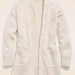 Long Open-Front Boyfriend Sweater for Girls   Old Navy (US)
