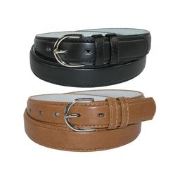 CTM®  Leather 1 1/8 Inch Dress Belt (Pack of 2 Colors) (Women's)   Walmart (US)