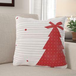 Lon Christmas Card Indoor/Outdoor Canvas Throw Pillow   Wayfair North America