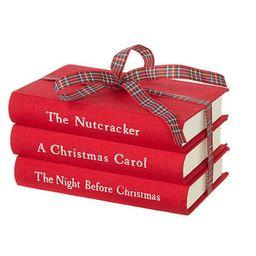 3 Piece Stacked Christmas Books Set   Wayfair North America