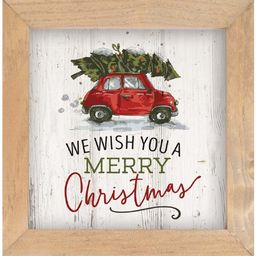 We Wish You a Merry Christmas Framed Art   Wayfair North America