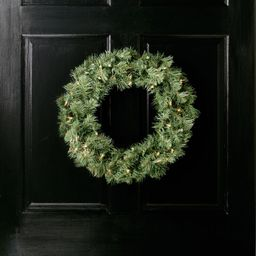 Lighted Wreath   Wayfair North America