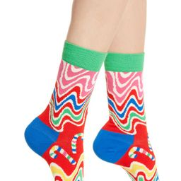 Psychedelic Candy Cane Crew Socks | Nordstrom