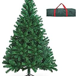 OUSFOT Christmas Tree 6ft with Storage Bag 800 Branch Tips Artificial Christmas Tree Easy Assembl... | Amazon (US)