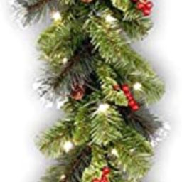 National Tree Company Pre-lit Artificial Christmas Garland | Flocked with Mixed Decorations and L... | Amazon (US)