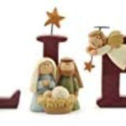 B-E-L-I-E-V-E Nativity Resin Christmas Decoration Set of 7 Letters - Size 1.75 in Tall | Amazon (US)