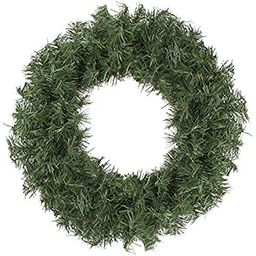 Northlight 18 in Unlit Canadian Pine Artificial Christmas Wreath, Green | Amazon (US)