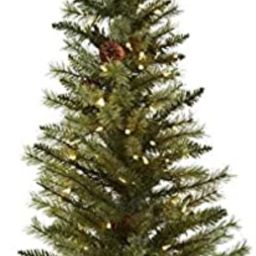 Nearly Natural 5441 Christmas Tree with Pine Cones and Clear Lights, 3-Feet, Green | Amazon (US)