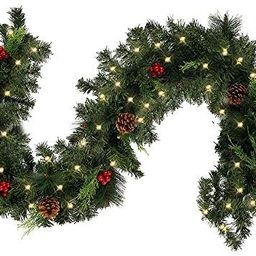 ODOMY Christmas Garland Pine Artificial Garland Decorations for Indoor Outdoor Wedding Party Holi... | Amazon (US)