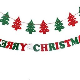 Grneric DIY Merry Christmas Elk Bunting Banner Garland Hanging Flags Party Flag Home Office Holid... | Amazon (US)