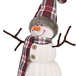 Worldeco Christmas Handmade Gift Cute Snowman Animated Plush Knit Doll Collectible Figurine Xmas ... | Amazon (US)