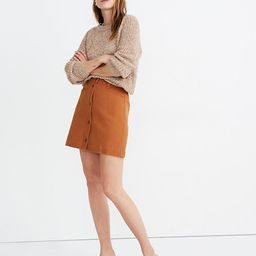Button-Front A-Line Pocket Mini Skirt | Madewell
