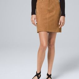 Faux-Suede Boot Skirt | White House Black Market