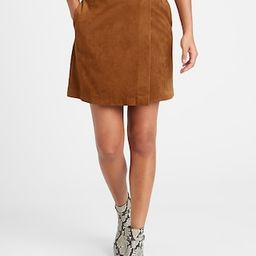 Vegan Suede Wrap Mini Skirt | Banana Republic (US)